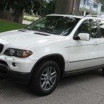 White-2001-BMW-X5-Front-Left-View